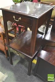Sale 8338 - Lot 1439 - Pair of Single Drawer Drexel Side Tables