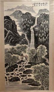 Sale 8951S - Lot 8 - Chinese Scroll of a Mountainous Landscape, Ink and Colour on Paper
