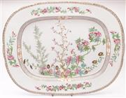 Sale 9032C - Lot 792 - A Victorian Chinese Pattern Serving Platter Decorated With Chrysanthemums (54cm x 43cm)