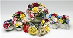 Sale 9190 - Lot 67 - A collection of ceramic flowers inc Royal Albert, Coalport and others (H:14cm)