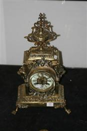 Sale 7877 - Lot 97 - French Brass Cased Mantle Clock