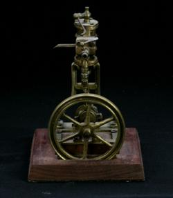 Sale 7907 - Lot 47 - Brass Donkey Engine on Timber Stand (Height - 18cm)