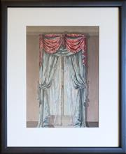 Sale 8518A - Lot 78 - Artist Unknown - Interior Drapery Study, possibly late 19th century