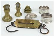 Sale 8419 - Lot 62 - English Hallmarked Sterling Silver Napkin Rings with Other Wares incl Postal Weights