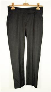 Sale 8460F - Lot 12 - A pair of Brunello Cucinelli grey wool blend trousers with central seam to legs, US 4