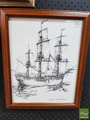 Sale 8548 - Lot 2060 - HMS Endeavour Print
