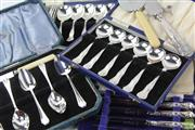 Sale 8586 - Lot 206 - Part Silver Kings Pattern Cutlery Together With Large Collection Of Plated Flatware