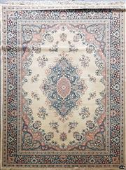 Sale 8676 - Lot 1068 - Blue and Cream Rug (280 x 190cm)