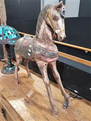 Sale 8777 - Lot 1002 - Small Rustic Timber Horse