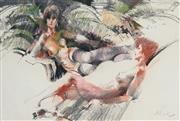 Sale 8929 - Lot 593 - Charles Billich (1934 - ) - Reclined Female Nudes 43.5 x 75 cm