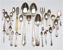 Sale 9144 - Lot 97 - A collection Of Hallmarked Sterling Silver cutlery, Mostly Teaspoons, together with plated examples