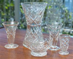 Sale 9164H - Lot 87 - A small group of cut crystal wares, tallest Height 20cm