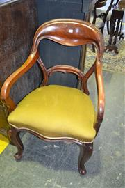 Sale 8093 - Lot 1805 - Pair of Victorian Mahogany Library Armchairs