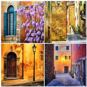 Sale 8296A - Lot 57 - Peter Lik (1959 - ) (4 works) - Street Shots of European Towns (Classical Edition) 25 x 25cm, each