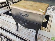 Sale 8440 - Lot 1063 - French Style Black Lamp Table with Two Drawers