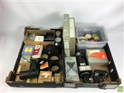 Sale 8648A - Lot 27 - Camera Accessories And Items Incl Zeiss Lenses, batteries, flashes and lens hoods
