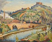 Sale 8665 - Lot 544 - Norman Lloyd (1897 - 1983) - Hilltop Castle and Fortress 75 x 95cm