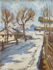Sale 8678 - Lot 2001 - Artist Unknown - Winter Scene 30.5 x 23cm