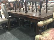 Sale 8740 - Lot 1351 - Extension Farmhouse Style Dining Table