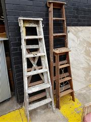Sale 8740 - Lot 1266 - Collection of Four Varied A-Frame Ladders