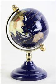 Sale 8940T - Lot 606 - Small Desk Globe with Semi Precious Stone States.