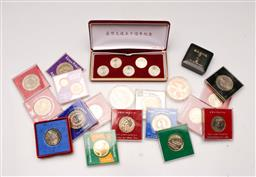 Sale 9119 - Lot 28 - A collection of coins and medallions incl crowns and 50c pieces