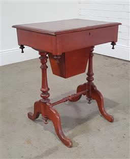 Sale 9190H - Lot 341 - Mahogany sewing box with well fitted interior, 70 x 56 x 42cm