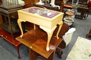 Sale 8115 - Lot 1191 - Tapestry Top Table w Storage