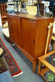 Sale 8476 - Lot 1005 - Maple Sideboard with Six Drawers & Two Sliding Doors
