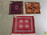 Sale 8515 - Lot 1094 - Three Persian Door Mats (Approx. 60 x 50cm)