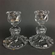 Sale 8649 - Lot 14 - Baccarat Pair Of Crystal Candle Holders