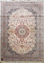 Sale 8676 - Lot 1085 - Cream and Black Rug (240 x 170cm)