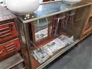 Sale 8740 - Lot 1495 - Vintage Bound Glass Display Cabinet with Claw Feet to Front