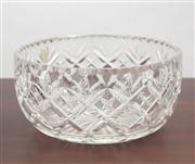 Sale 8774A - Lot 169 - A Royal Doulton crystal bowl in a fitted case, diameter 27cm