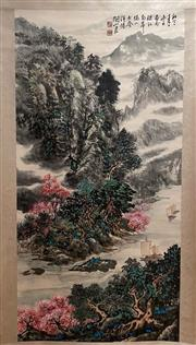 Sale 8951S - Lot 11 - Chinese Landscape Scroll, Ink and Colour on Paper