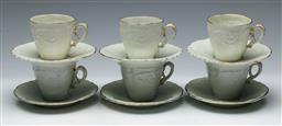 Sale 9164 - Lot 171 - A fine white porcelain coffee suite for six persons