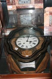 Sale 7877 - Lot 96 - Inlaid Wall Clock