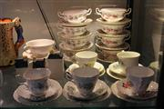 Sale 8189 - Lot 151 - Royal Albert Lavender Rose & Winsome Soup Cup & Saucers with 6 Trios incl. Regency & Royal Albert