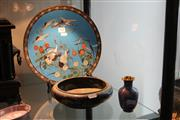 Sale 8330T - Lot 148 - Cloisonne Charger with a Dish & Vase (3)