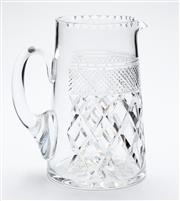Sale 8599A - Lot 81 - A quality hand cut lead crystal jug c.1920s, H 18cm