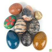 Sale 8649R - Lot 150 - Collection of Decorative Stone Eggs