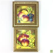 Sale 8649 - Lot 92 - Pair of Royal Worcester Porcelain Plaques Hand Painted By Leaman