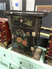 Sale 8854 - Lot 1004 - Oriental Hall Chest with Painted Front