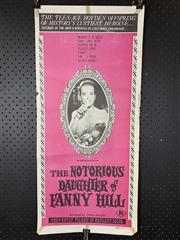 Sale 9003P - Lot 19 - Vintage Movie Poster - The Notorious Daughter of Fanny Hill