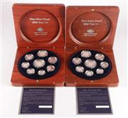 Sale 9035M - Lot 804 - Two Royal Australian Mint 2006 Fine Silver Proof Coin Sets in timber case, with certificate of authenticity, ltd no. 5003/6500 & 103...