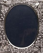 Sale 9064 - Lot 45 - A 900 Silver Frame Featuring Flowers (Frame Size 24.5cm x 23cm)
