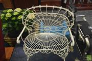 Sale 8277 - Lot 1024 - Small Metal Garden Bench