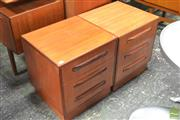 Sale 8338 - Lot 1101 - Pair of G-Plan Three Drawer Chests