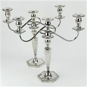 Sale 8332 - Lot 26 - Ellis-Barker Silver Company Silver Plated Pair of Candelabra