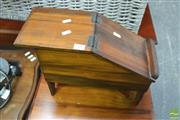 Sale 8406 - Lot 1102 - Shoe Shine Box w Contents